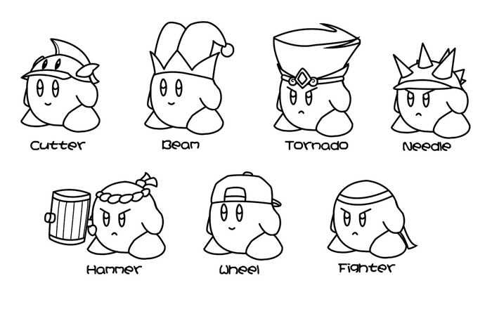 Collection Of Kirby Coloring Pages For Kids Free Coloring Sheets Kirby Character Monster Coloring Pages Cartoon Coloring Pages