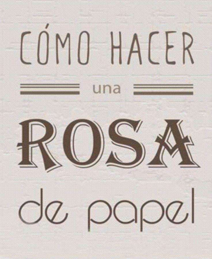 Cómo hacer una rosa de papel.  El paso a paso en www.diyididit.com