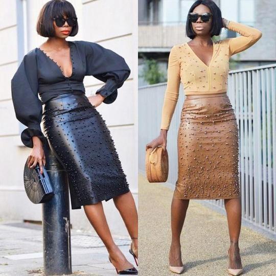 c5ea7e268 Women PU Leather Pencil Skirt High Waist Elegant Office Ladies Workeav –  eavengifts