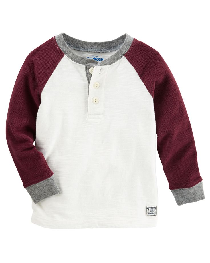 Toddler Boy Raglan Henley | OshKosh.com
