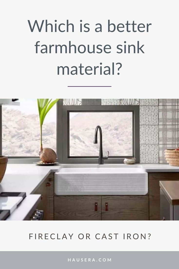 Farmhouse Kitchen Sinks Fireclay Vs Cast Iron In 2020 Mit