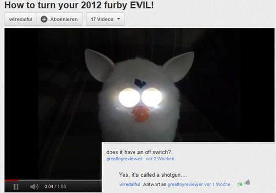 satanic demon spawn's otherwise known as furby's