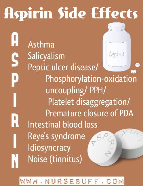 aspirin+side+effects+nursing+mnemonics