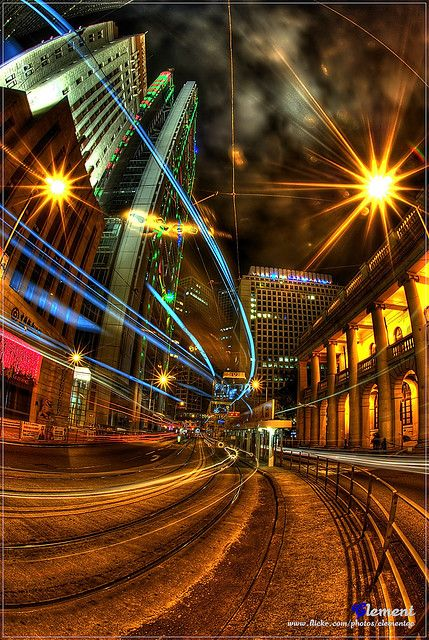 Christmas '08 in Hong Kong. I enjoy light trail photography...this photo is amazing.