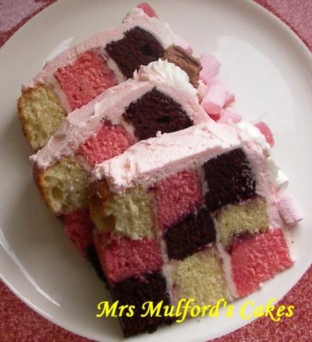 Neapolitan Checkerboard Cake.