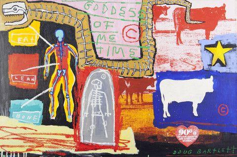 Doug Bartlett 'Goddess of Me Time' - mixed media on painting – Angela Tandori Fine Art