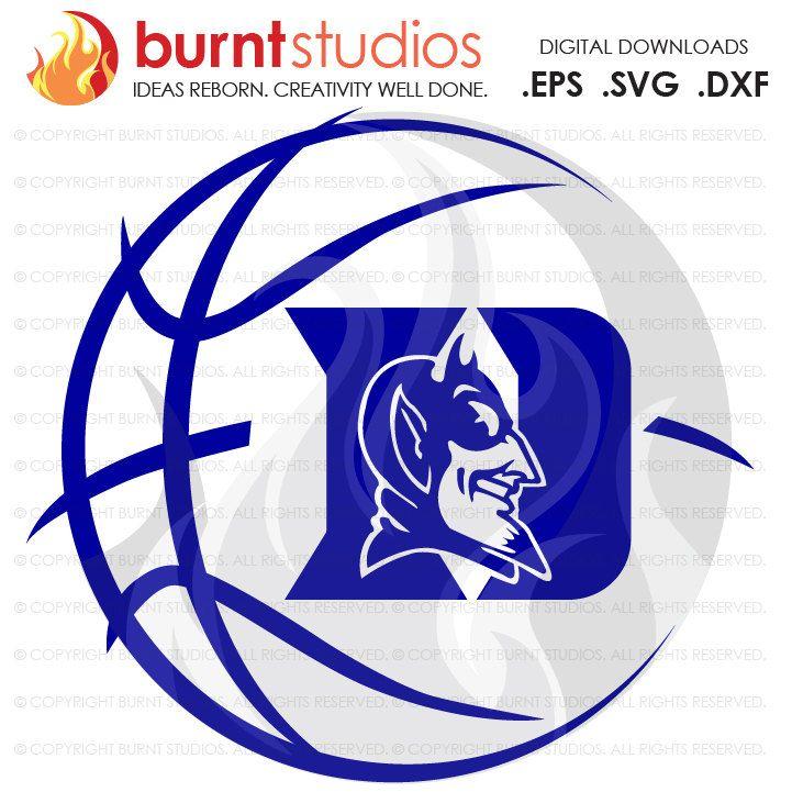 Digital File Duke University Blue Devils Logo Basketball Svg Png Dxf Eps File Burnt Studios Blue Devils Logo Logo Basketball Duke Blue Devils Logo