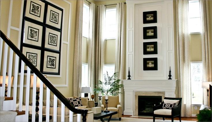 fireplace wall. make focal wall   Living Room   Pinterest