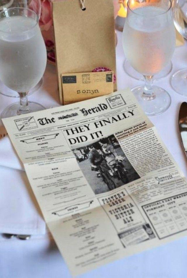 menukaart bruiloft Met leuke tekstjes en dingen over ons!