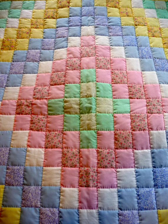 Amish Baby Quilt Trip Around The World Pattern Unisex