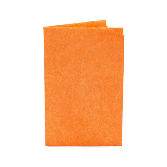 Paper-Thin Card Holder Unisex for Men & Women - Solid Orange Design - Made in Tyvek - Eco-friendly and 100% Recyclable