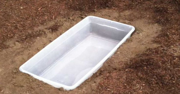She plants a Rubbermaid storage container in her backyard, The reason why is brilliant