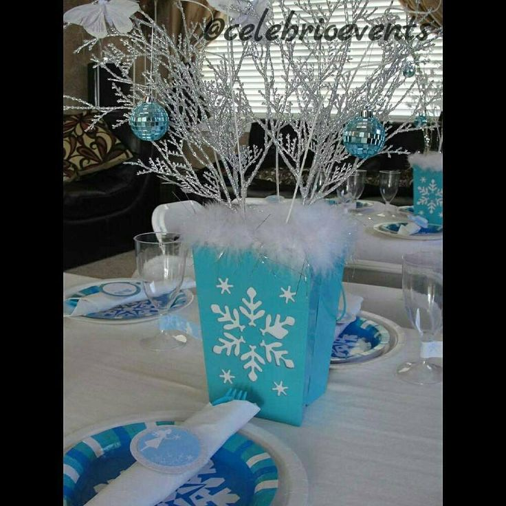 how to make frozen centerpieces