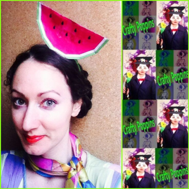 #watermelon #fascinator tutorial coming soon on #youtube..check our craftypoppins.com for recent OOTD blog post #boom