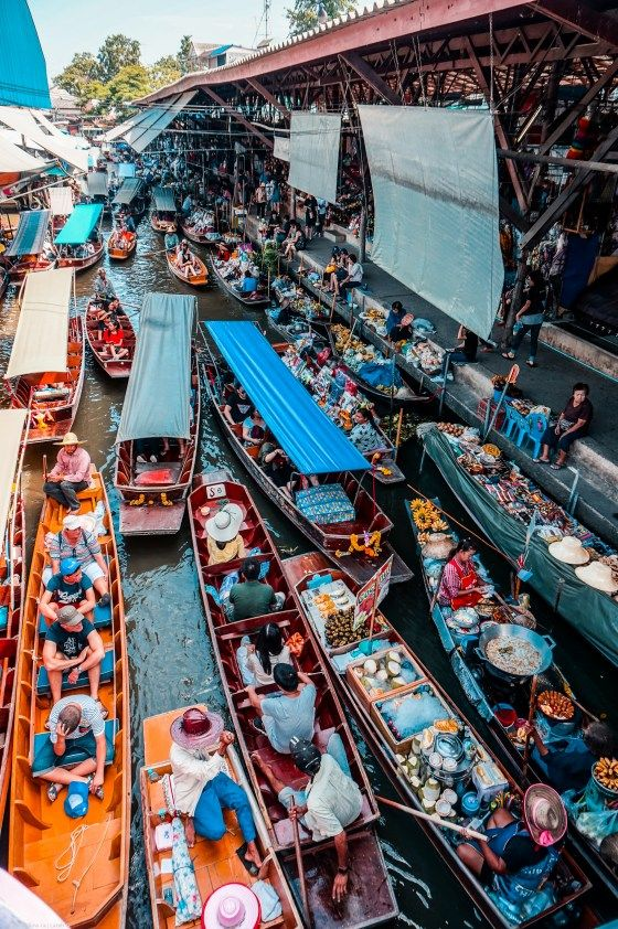 Damnoen Saduak Floating Market - City Break in Bangkok Thailand