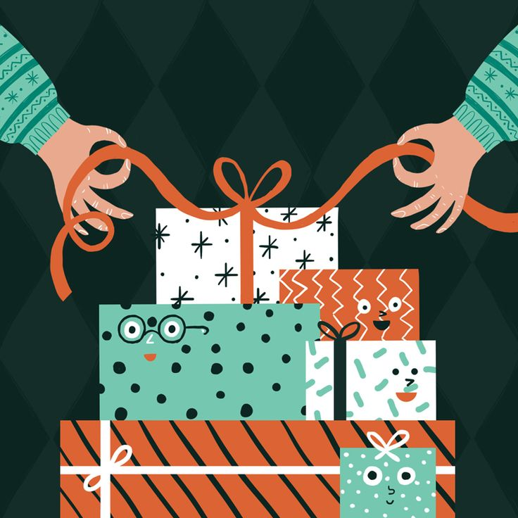 #anaseixas #newdivision #illustration #gift #presents #christmas #ribbon