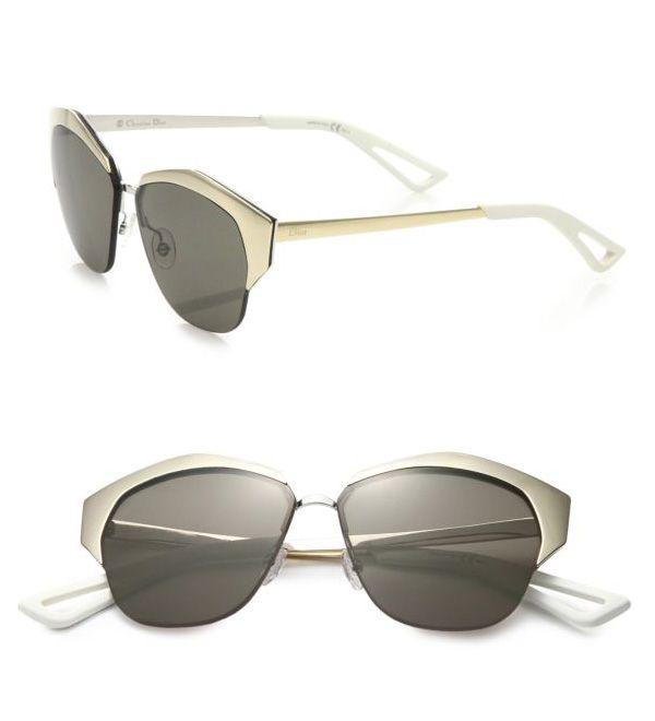 Dior Mirrored 55MM Round Sunglasses Gold          $59.00