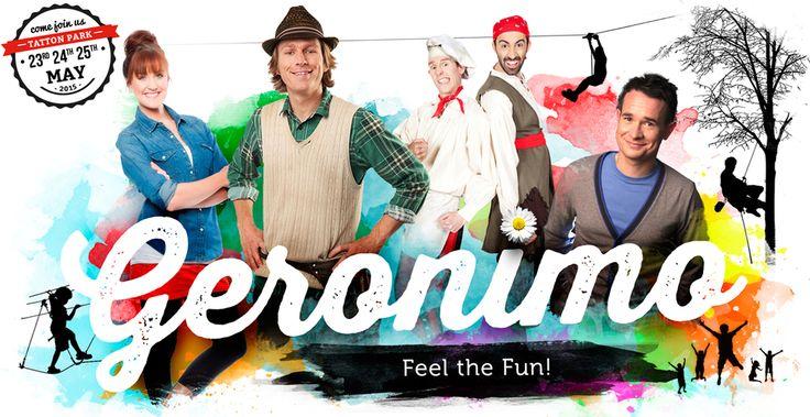 Geronimo is a family event aimed at children under the age of 12 and their families.   The event is focused on quality family time, imaginative play and the aim of the event is to encourage families to play, learn and have fun together