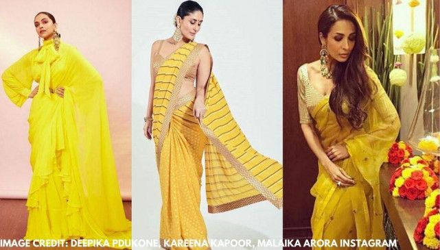 INDIAN LOOK: 5 एक्ट्रेसेस, जिन्होंने yellow saree में बिखेरा जलवा आगे पढ़े..... #Bollywood #bollywoodactress #bollywoodstars #KareenaKapoorKhan #PriyankaChopra #MalaikaArora #KritiSanon