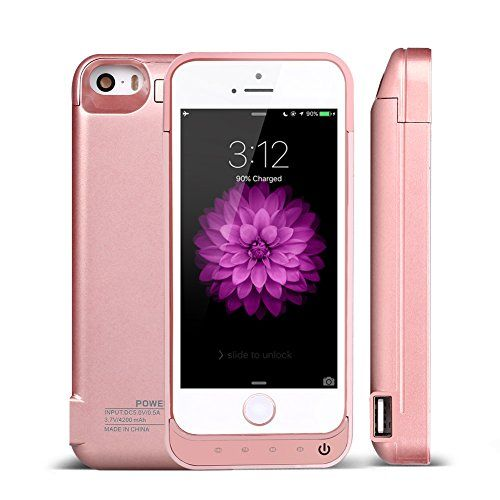 Buy iPhone 5/5S/5C/SE Battery Case, Keluoer Portable Slim iPhone Battery Charger Mobile Protective Charging Cases 4200mAh Capacity Power Bank [1-Year Warrant] (Rose Gold) at 30% Off - http://reviewsv.com/chargercases/buy-iphone-55s5cse-battery-case-keluoer-portable-slim-iphone-battery-charger-mobile-protective-charging-cases-4200mah-capacity-power-bank-1-year-warrant-rose-gold-at-30-off/