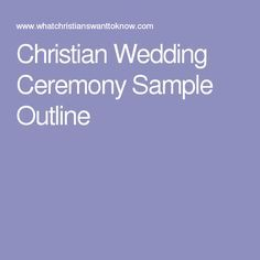 Christian wedding ceremony sample outline wedding for Christian wedding ceremony outline
