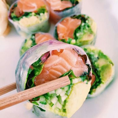Sushi with spring roll