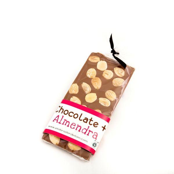 CHOCOLATE LECHE CON ALMENDRAS - El Obrador de Tom #chocolate #comprarchocolateonline #tiendaonline