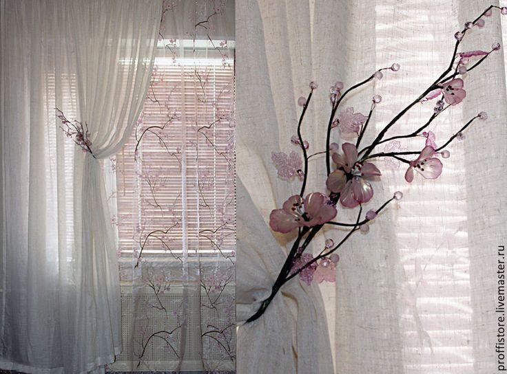 """Купить Шторы для спальни""""Сакура"""",новинка - бледно-сиреневый, шторы, шторы для спальни, штора, шторы в детскую"""