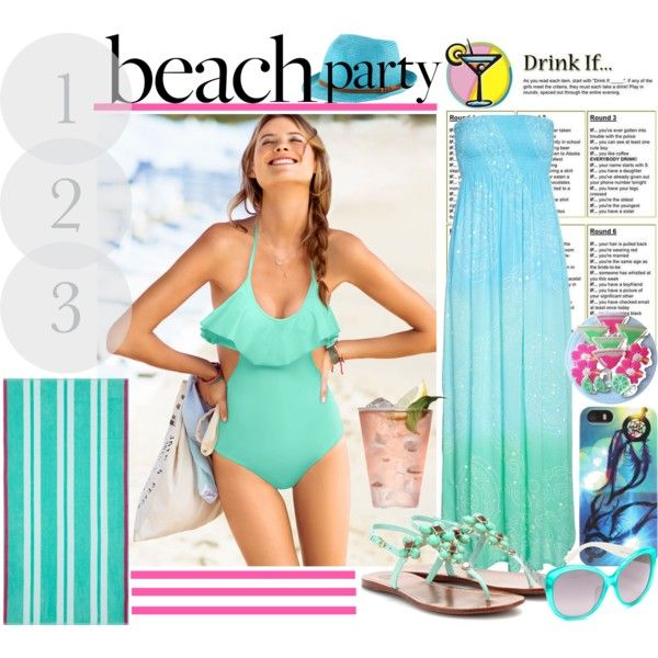 Bachelorette Beach Party on Polyvore