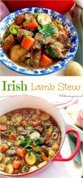 Irish Lamb Stew Recipe -- Stovetop, Oven and Slow Cooker Instructions.