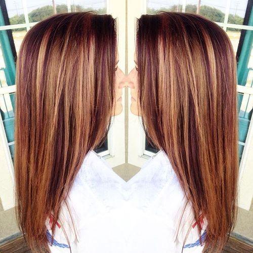Edgy Highlighted Hair Colors