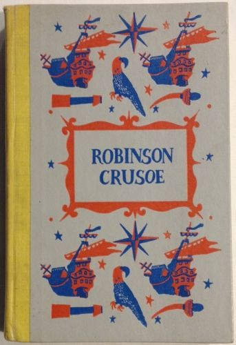 Robinson-Crusoe-by-Daniel-Defoe-1945-Hardcover-Junior-Deluxe-Edition