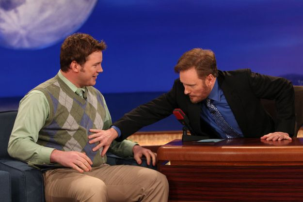 And he had a belly not even Conan could resist touching. | For Everyone Who Is Sexually Attracted To Chubby Chris Pratt