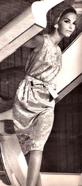 1960's Dress. ♥: Bazaars 1961, Fashion 1960, November 1961, Vintage Fashion, Harpers Bazaars, 1960S, Posts, Bazaars November, 1960 S