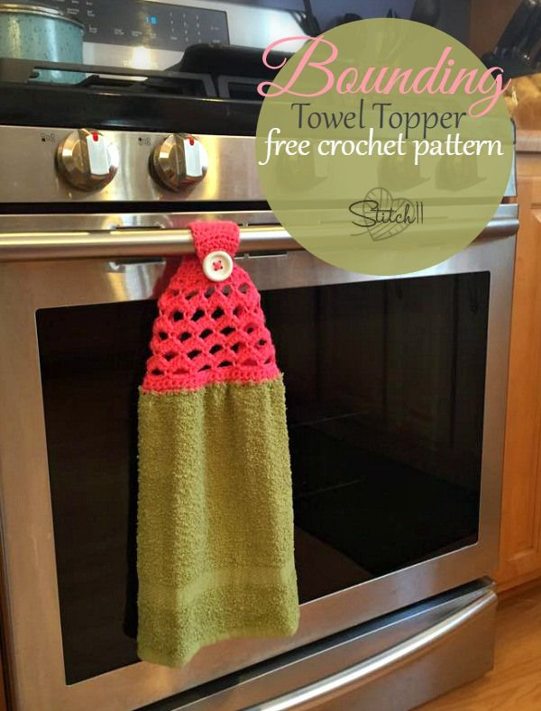 Crocheted Dish Towel Topper Patterns