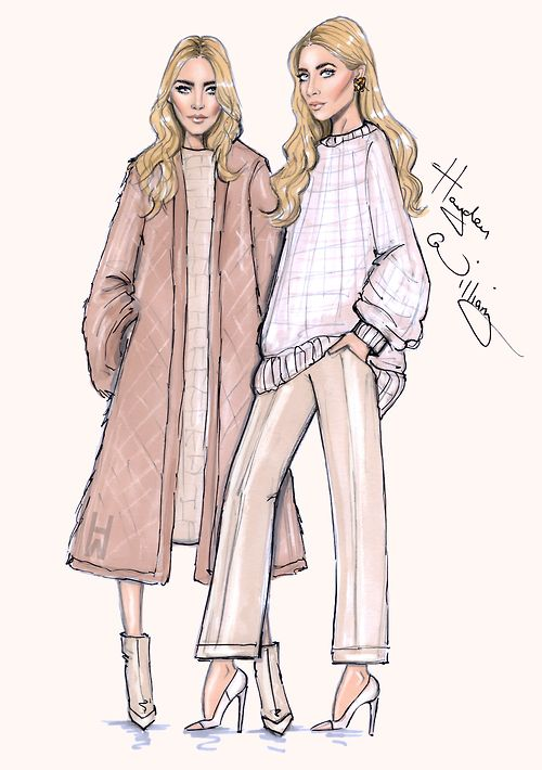 Mary-Kate & Ashley 'Modern Classics' by Hayden Williams. Inspired by THE EDIT cover by NET-A-PORTER