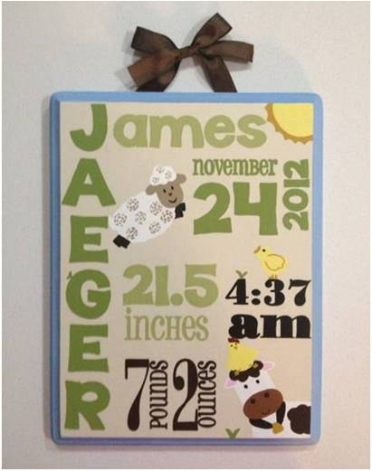 27 best Baby gift ideas images – Birth Announcement Plaques