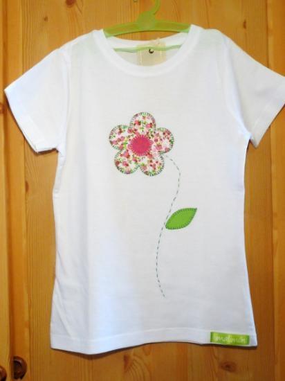 camiseta flor rosa camiseta de algodón,tela de algodón estampada,hilos de bordar aplique cosido a mano,patchwork
