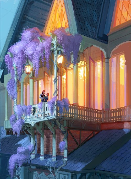 Frozen - Prince Hans and Princess Anna - This is such a beautiful and romantic setting!