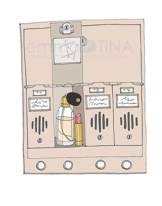 Holly Golightly's Mailbox Fashion Illustration Art Print on Etsy, $12.04