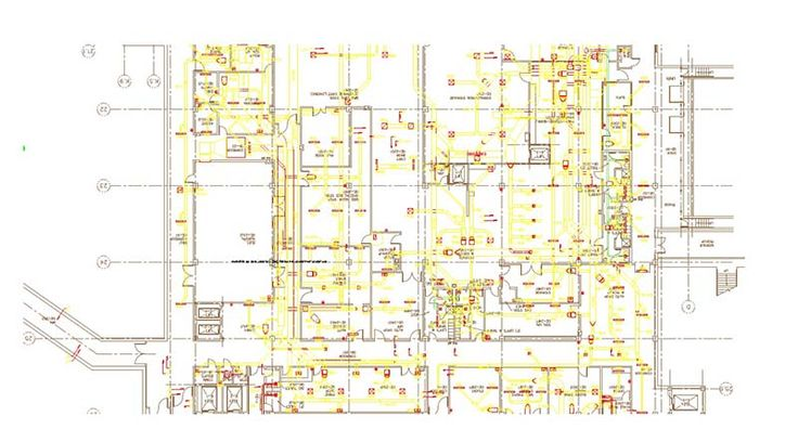 HVAC Shop Drawing. View more MEP projects at http://www.teslaoutsourcingservices.com/mep-samples.php.