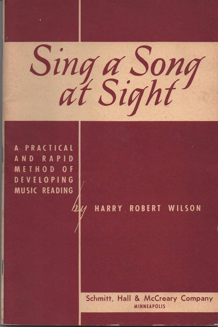 Sing A Song at Sight, Harry Robert Wilson, 1954 Paperback, Practical and Rapid Method of Developing Music Reading, Good shape by VintageNEJunk on Etsy