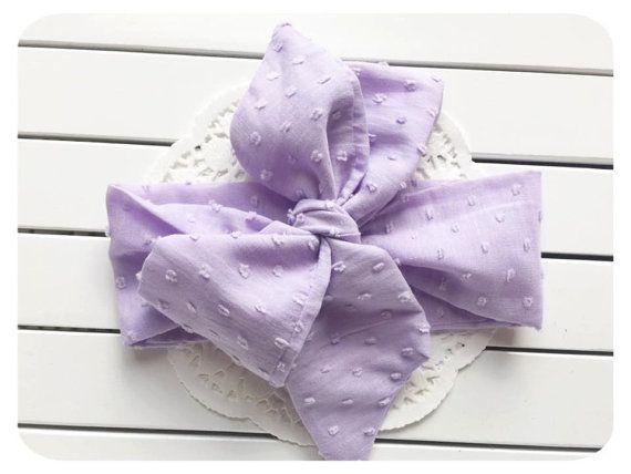 Baby Headwrap Purple Girls Head wrap vintage by AllureHandmade
