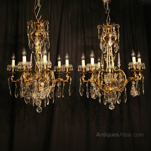 Antiques-Atlas lists Antique Chandeliers on the UK's leading antiques  directory, ranging from to from UK antique dealers listed on the UK's  leading Antiques ... - 32 Best Crystal Chandelier Images On Pinterest Crystal