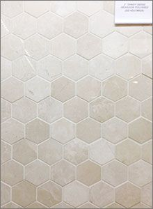 Sandy beige marble polished hexagon Mosaic Backsplash Tiles