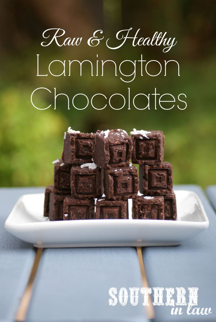 Homemade Healthy Lamington Chocolates - indulge your sweet tooth with this raw healthy treat. These homemade coconut oil chocolates taste just like a lamington and are sugar free, vegan, gluten free, grain free, paleo and so delicious!