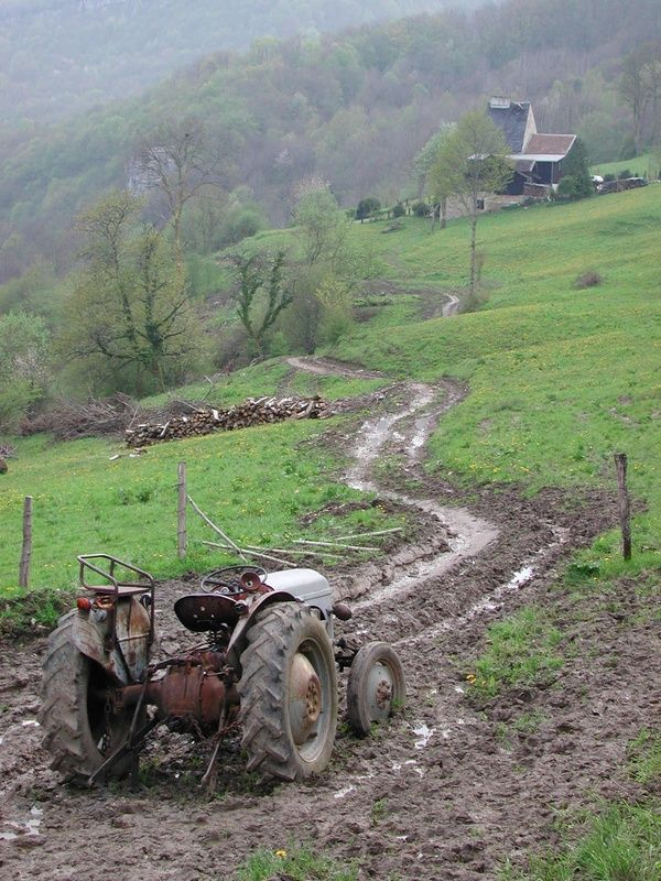 67 best simple powerful old ford tractors images on for Country farm simples