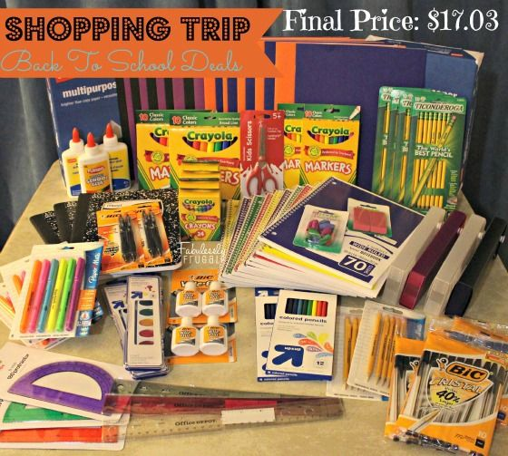 Back To School Shopping Trip: Get over $125 in Back To School Supplies for less than $18!