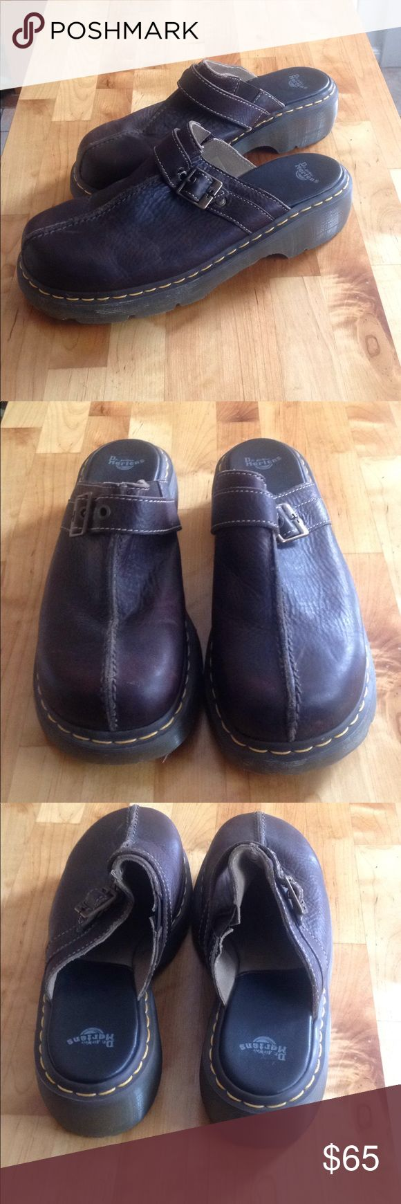 Like new men's Dr. Martens slip ons, size 11. Beautiful Dr. Martens air wair men's slip on shoe.  Do men wear clogs? Not sure so we will just call them slip ons.  Size 11.  These are like new, barely a hint that a foot was even in them. Dr. Martens Shoes Loafers & Slip-Ons
