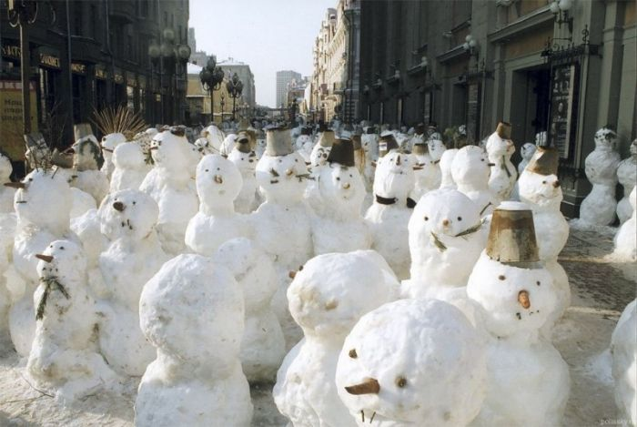 When the poles melt, the Snowmen shall walk the earth.